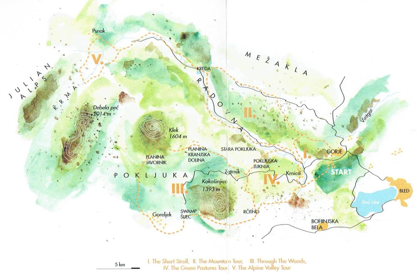 zemljevid jahalnih poti